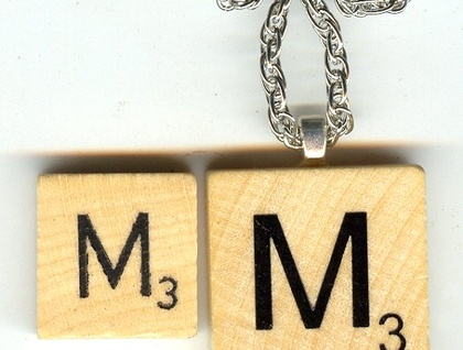 Large or Small - Wooden Scrabble Tiles into Pendants Standout in the Crowd