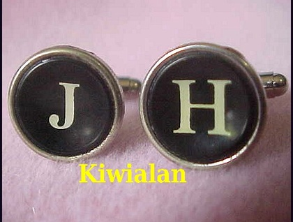 Cuff Links with Antique Typewriter Keys Stand out in the Crowd!