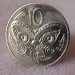 Maori Warrior Vintage 10c Coin into a Stunning Retro Adjustable Ring