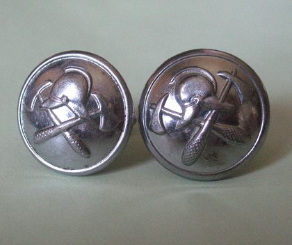 Cuff Links from New Zealand Fire Brigade Silver coloured buttons