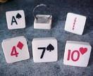 Pack of Cards adjustable ring - Any suit, any number - Be Different!