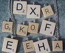 Wood Scrabble Tiles as pendants - Two sizes, small and large