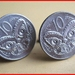 Maori Tiki Cufflinks Old shape 10c coin Be Different!