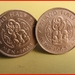 Maori Tiki Cufflinks Old shape half-penny  coin Be Different!