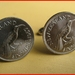 Huia Cufflinks Old shape Six pence  coin Be Different!