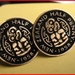Tiki Cufflinks Old shape Old shape halfpenny Black Enameled   coin Be Different!