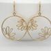 Adorable Freeform Daisy Hoop Matte Gold Earrings