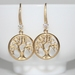 Gorgeous Golden Tree of Life Matte Gold Earrings