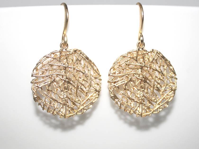 Gorgeous Golden Circular Nest Earrings