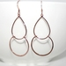 Gorgeous Rose Gold Double Dangle Earrings