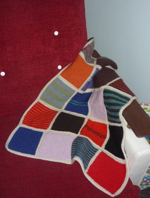 Knitting Pattern For Peggy Squares : Peggy Square Baby Blanket Felt