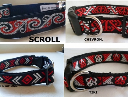 Hand made collars in Maori pattern