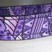 Handmade dog collar in purple pattern