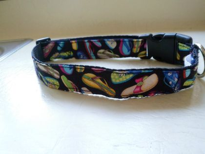 Handmade dog collars with jandals.