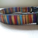 Handmade stripped dog collar.