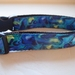 Handmade dog collars in blue paua
