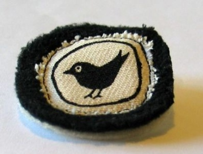 Blackbird fabric pin
