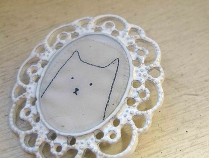 Fancy Cat brooch