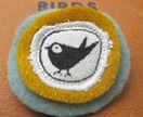 Little bird fabric pin