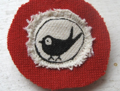 Little bird fabric pin