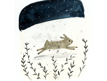 A4 art print - Run Rabbit