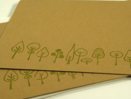 Row of trees - note cards