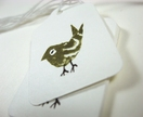 Sage bird mini illustrated gift tags