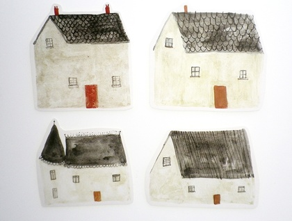 Set of 4 stickers - Dream Home