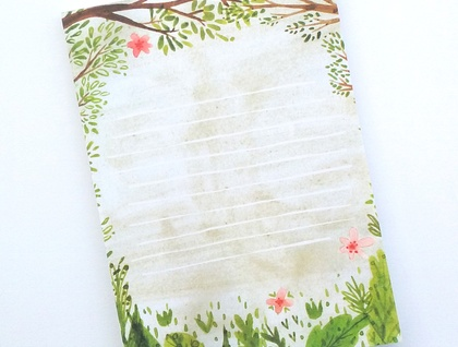 A6 Notepad with 50 tearaway sheets