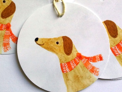Printable Little Christmas Dog Gift Tags