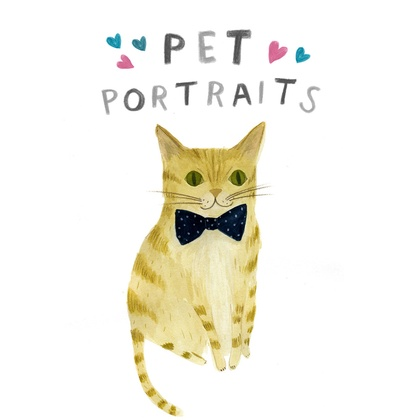 Custom Pet Portrait A5 size