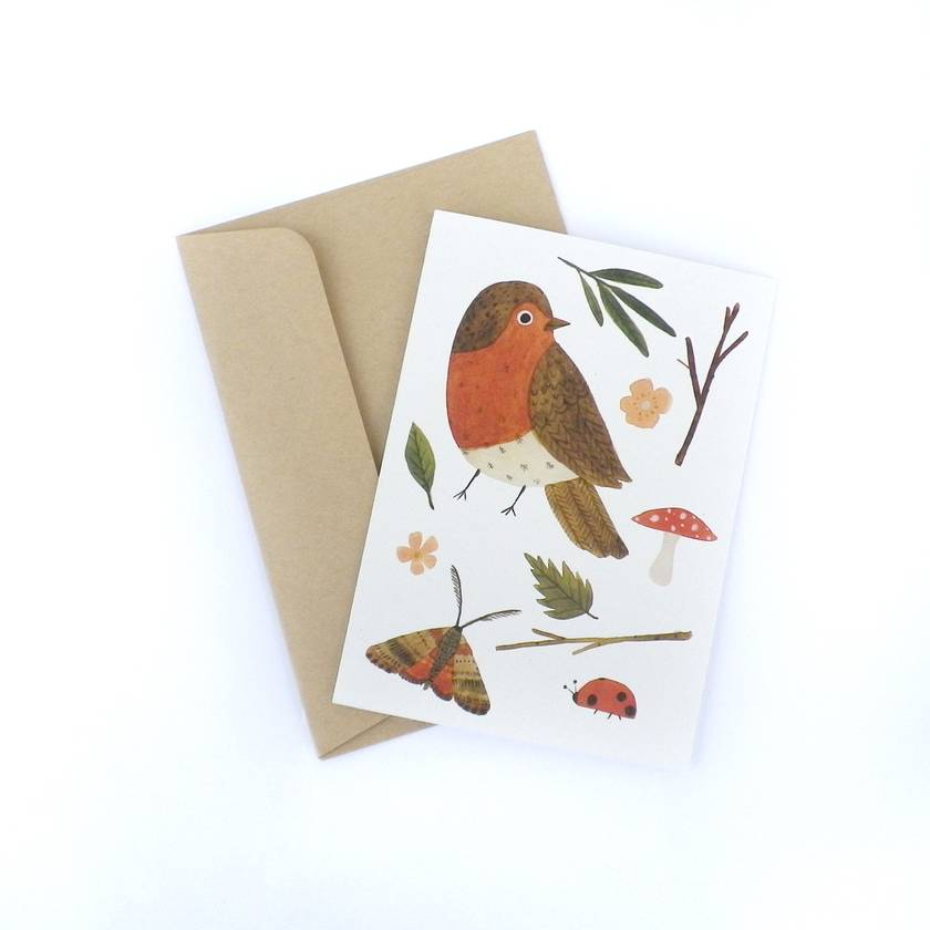 Greeting Card - Nature Finds - Red Bird