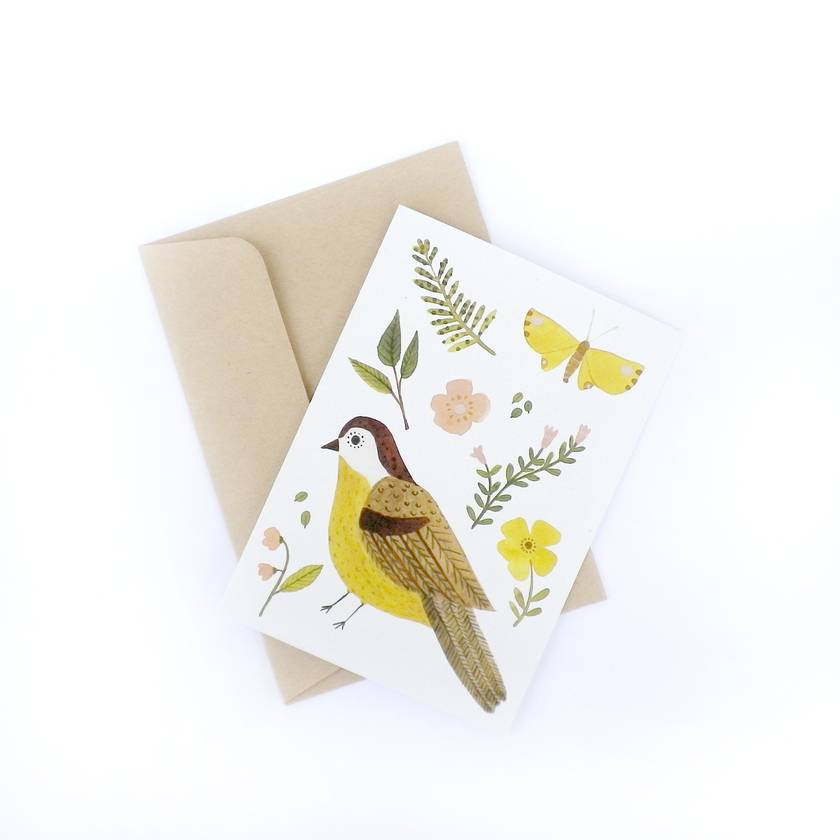 Greeting Card - Nature Finds - Yellow Bird
