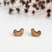 Feathered Bird Tiny Earrings