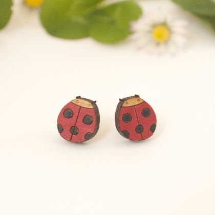 Tiny Ladybird Earrings