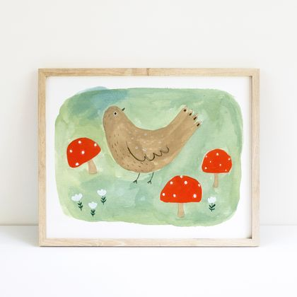 Field Bird Art Print