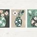 Set of Three 8 x 10 Vases Art Prints