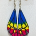 Pansexual Pride Butterfly Earrings