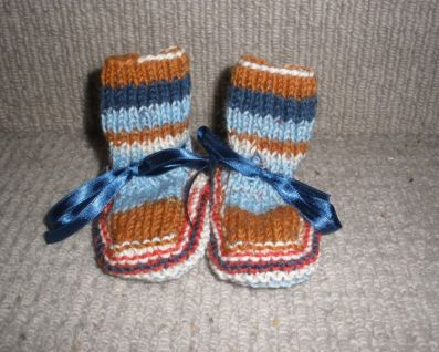 Knitting Pattern Felted Baby Booties : Hand knit baby booties Felt