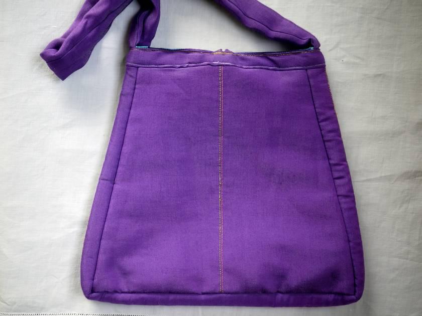 Exquisite silk chenilled evening bag. Unique design. Handmade.