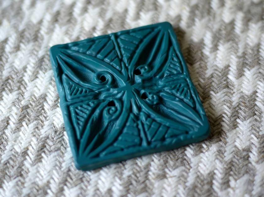 Unique handmade button.