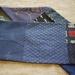 Antique kimono pieced scarf in blue.