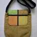 Bag. Unique hand crafted shoulder bag. Strong and stylish and inspired by Mondrian.