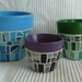 Fresh and Funky Mosaic Flower Pots - Set of 3 - Made to Order