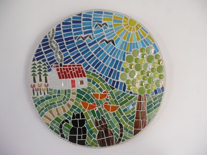 "Mosaic Wall Art - Personalised ""LIFE IS GOOD"""