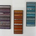 """""""INDISTINCT CHATTER No. 4"""" Modern Contemporary MOSAIC Wall Art - Abstract in Purple and Silver"""