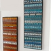 "SALE!!  ""INDISTINCT CHATTER No. 6"" Modern Contemporary MOSAIC Wall Art  - Abstract in Aqua and Silver"