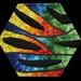 LAVA FLOW - Smalti Mosaic on Hexagon Base - Contemporary Fine Art