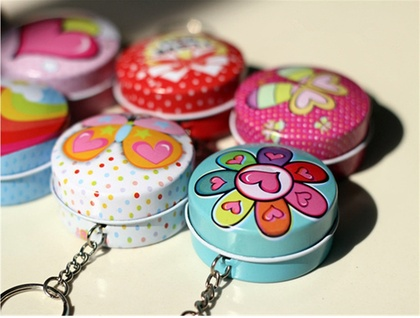 Lip Balm Key ring tin with your choice of lip balm!
