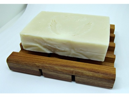 NZ made wooden Rimu soap stand!